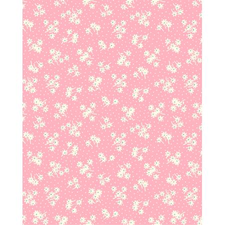 3596-002 Everything But The Kitchen Sink XIV - Daisy Dot - Bubblegum Fabric