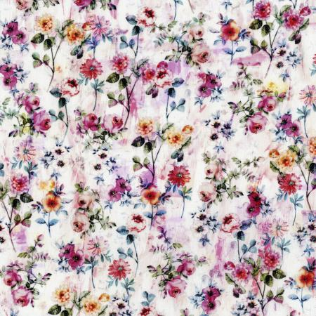 3541-001 Fleur Couture - Georgette - Blush Digiprint Fabric