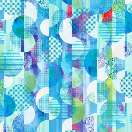 RJ1504-SK1D Geometry - Three Sixty - Sky Digiprint Fabric