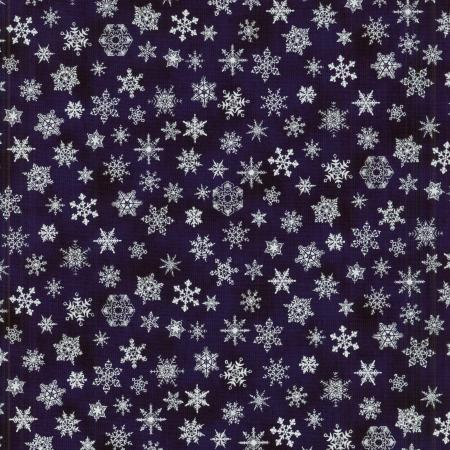 0780-004 Holiday Accents Classics - Snow Flake - Black Fabric
