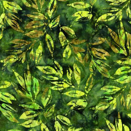 RJ1001-FO1B Nature Walk - Leaves - Forest Batik Fabric