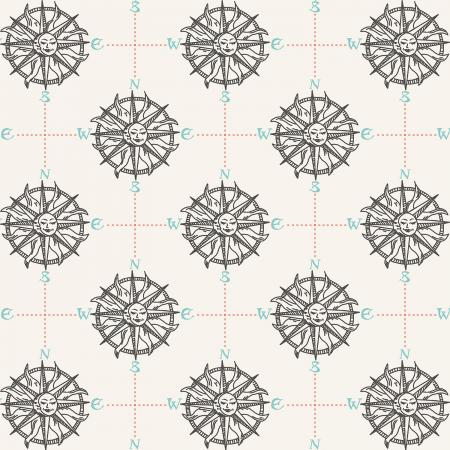 RJ2302-PA2 Smooth Seas - Compass - Pacific Fabric 1