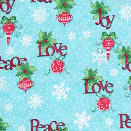 2735-002 Christmas Wishes - Tidings Tumbler - Morning Sky Fabric