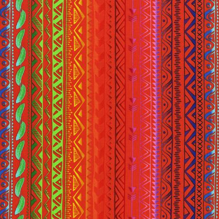 3332-001 Pow Wow Wow! - Stripe - Bright Orange Fabric