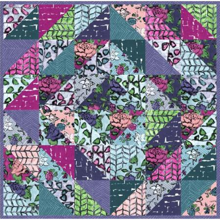 """Florabunda Mini"" Free Easy to Sew Quilt Pattern designed by Melanie Testa from RJR Fabrics"