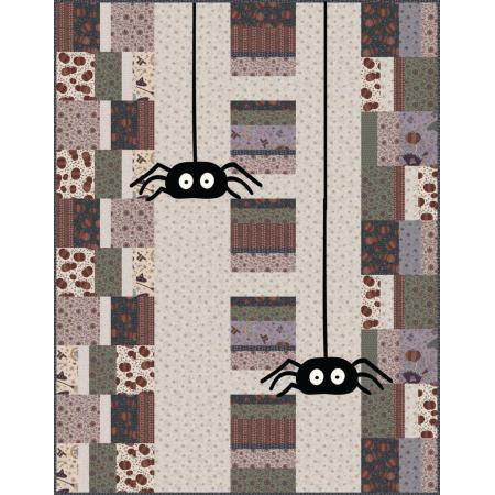 """Itsy Bitsy Spider"" Free Halloween Quilt Pattern designed by Wendy Sheppard from RJR Fabrics"