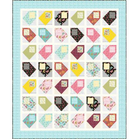 """Mail Day"" Free Easy to Sew Quilt Pattern designed by Wendy Shepard from RJR Fabrics"